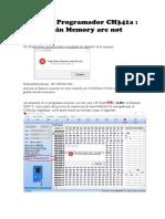 Error en Programador CH341a  (Chip Main Memory are not null)
