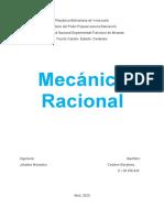 Mecánica racional Unidad 1