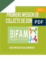 MISSION MAFIBLE 1- CARACT SOCIO ECONOMIQUES