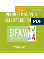 MISSION MAFIBLE 1- SECTION SANTE