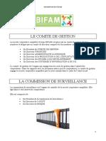 ORGANISATION DE BIFAM