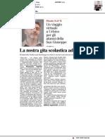 La nostra gita scolastica a Urbino - Il Resto del Carlino Teramo del 2 giugno 2020