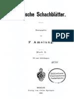 Baltische Schachblätter - Amelung (1898)