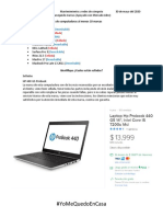 Mantenimiento y redes de cómputo Realiza una lista de marcas de computadoras