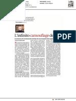 L'infinito camouflage dei segni - Il Manifesto del 3 giugno 2020