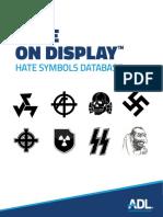 ADL Hate on Display Printable