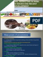 AGRICULTURALMARKETINGININDIASELECTEDISSUESANDRECENTDEVELOPMENT.pptx