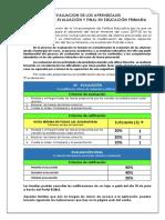 Tercera y Evaluación Final. Educación Primaria