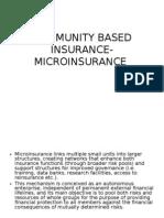 Community Based Insurance-microinsurance