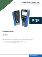 UniPRO MGig1 SEL1 Upgrade Instruction May2020