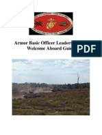 Armor Basic Officer Leaders Course Welcome Aboard Packet
