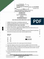 Answers to CSEC January 2011 Mathematics P1