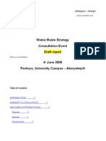 Draft Waste Strategy for Wales Aberystwyth Workshop Report