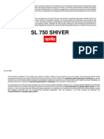 Aprilia Shiver Owners Manual 2008