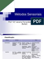 MÉTODOS SENSORIAIS DISCRIMINATIVOS1