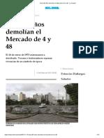Hace 40 años demolían el Mercado de 4 y 48 - La Ciudad