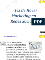 Antes de Hacer Marketing en Redes Sociales | http://DayanayFreddy.com