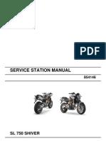Aprilia Shiver Service Manual 2007