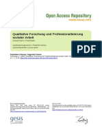 Quaitative Forschung und Professionalisierung in Sozialer Arbeit