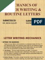 MECHANICS OF LETTER WRITING