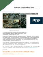 30 documentários sobre mobilidade urbana