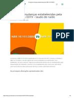 Principais mudanças estabelecidas pela NBR 10.151_2019