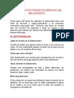 Clase 5.1 FUNDAMENTOS OFENSIVOS BÁSICOS DEL BALONCESTO