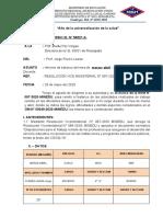 Informe balance de marzo y abril