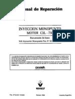 MRINJMONOPOINTC3L Injeção Renault 19 1.6