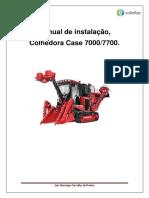 Manual de instalação Colhedora Case 7700