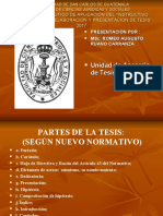 PRESENTACION DE instructivo de tesis unidad tesis DERECHO USAC