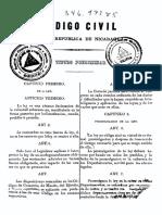 PRIMER CÓDIGO CIVIL DE NICARAGUA