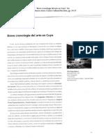Benchimol, Silvia 1999. Breve Cronología Del Arte en Cuyo
