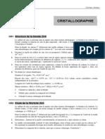Révisions cristallographie (1)