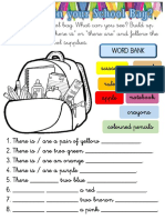 WHAT'S IN YOUR SCHOOL BAG. THERE IS THERE ARE