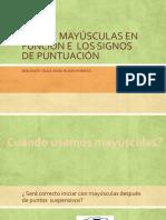 USO DE MAYÚSCULAS EN FUNCIÓN E  LOS SIGNOS