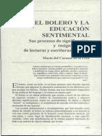El bolero y la educacion sentimental - Maria Carmen de la Peza
