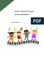 Cuadernillo Musical Monteleon