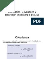 Clases de Estadística Correlación Covarianza y Regresión lineal