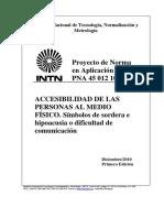 PNA 45 012 10 – Símbolos de sordera e hipoacusia o dificultad de comunicación