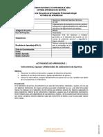 Actividades de Aprendizaje No. 1 - Materiales, Instrumentos y Equipos de Laboratorio de Química (2)