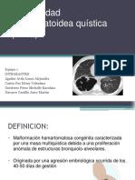 """Equipo I """"Enfermedad adenomatoidea quística"""""""