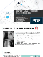 """Equipo 4 """"Agenesia y Aplasia Pulmonar y Quiste Broncogénico"""""""