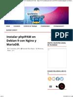 Instalar phpIPAM en Debian 9 con Nginx y MariaDB. - Sysadmins de Cuba