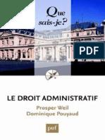 Le Droit Administratif - Weil Prosper, Pouyaud Dominique