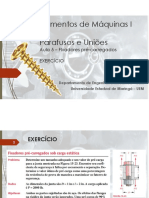 Aula 5 - Pré-carga de junções em tração (estática) - EXERCÍCIO