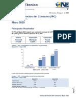 Índice de Precios Del Consumo (IPC) Mayo 2020