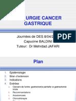 +CHIRURGIE DU CANCER GASTRIQUE