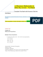 Fundamentals of Business Mathematics in Canada 3Rd Edition by Jerome – Test Bank