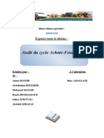 Audit Cycle Achats Fournisseurs